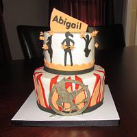 Cheerleading and Hunger Games Cake by Jaybugs_Sweet_Shop