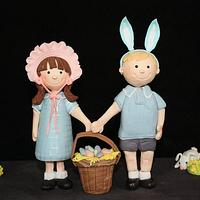 """""""Easter Hat Parade' - sugar art piece by Pam"""