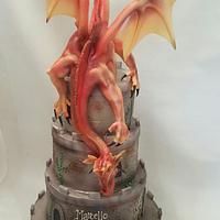 Dragonheart wedding cake