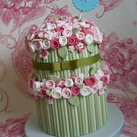 Two tier rose bouquet cake