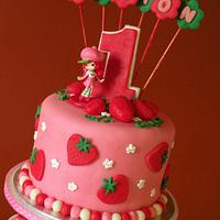 """strawberry shortcake"" cake & cupcakes"