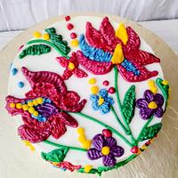 Ambroidary theme cake