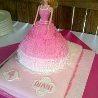 Balgown Barbie in Ombre Pink