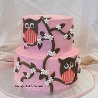 Owl Birthday Cake by Sara's Cake House