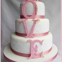 Love Letters wedding cake