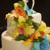 GUM PASTE ORCHIDS...Wedding Cake