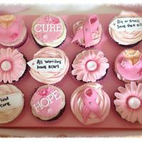 Breast cancer cupcakes for fundraiser