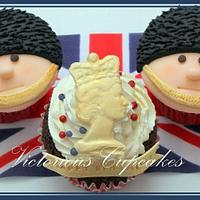 Trooping Of The Colour Cupcakes