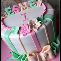 Candy stripe - rainbow cake