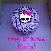 Monster High Clawdeen Wolf cake