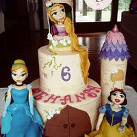 Princess Castle Themed Cake