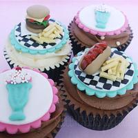 Retro Diner Cupcakes