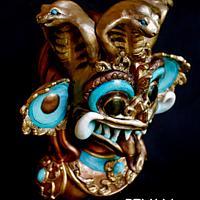 Beautiful Sri Lanka Cake Collab - Devil Mask