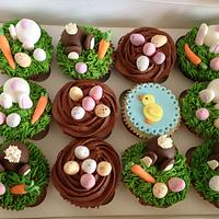 Easter Cup cakes by Sweet_Tooth