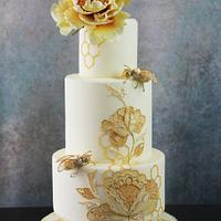 Bees weddingcake