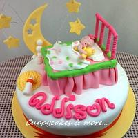 Addisson in Dreamland theme cake