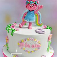 Birthday cake with Poppy - Trolls