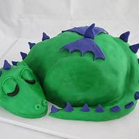 Dragon Baby Shower Cake, Part 2