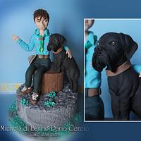 Boyscout and dog cake topper ;)