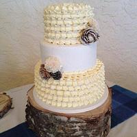Rustic winter cake