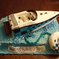 3D speedboat cake
