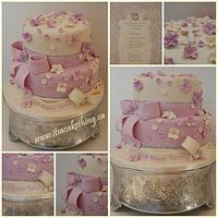 Pretty First Communion Cake