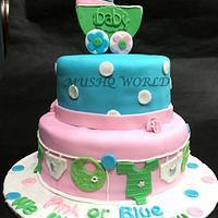 PINK OR BLUE .. BABY SHOWER CAKE