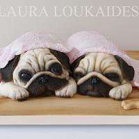 Agnes & Ethel - The Sleepy Pugs