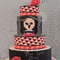 Sugar skulls 2014 Illusion Cake
