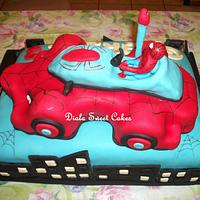 Spiderman Car Cake