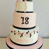 Ballet, Tap and Music Themed Cake