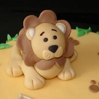 Lion Birthday Cake Boy by Laura Jabri
