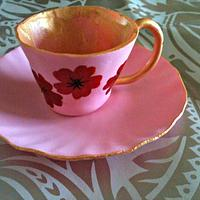cup and saucer  by yvonne