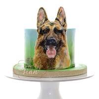German Shepherd Cake