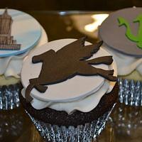 Percy Jackson cupcakes