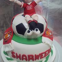 MU Theme Soccer Cake