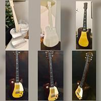 3D standing guitar