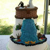 Fishing Wedding Cake