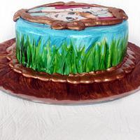 Hand painted Frozen Cake by Josie Durney