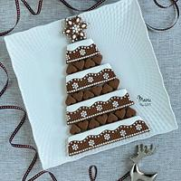 Embossed Christmas Cookie Platter 2019