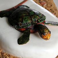 Longboard with Sea Turtle