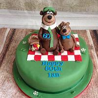 Yogi bear cake