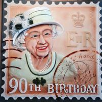 vintage stamp of HM the Queen :-)