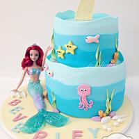 Mermaid, underwater theme cake