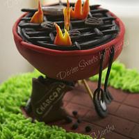 BBQ Gardening Cake by Martha Chirinos Teruel