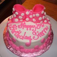 Pink Bow Smash Cake