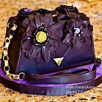 50th Birthday Purse Cake by GrandmaTilliesBakery