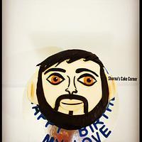 Human face  cake