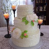 Frilled Wedding Cake