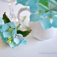 Hydrangea sugar flower. by LenkaSweetDreams